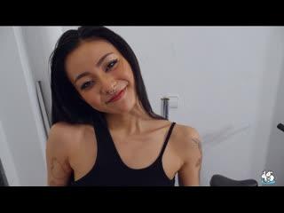 Trueamateurs Rae Lil Black Asian Babe Fucks Her Boyfriend In The Garage True Amateurs POV Piercing Tattoo Brunette Natural Tits