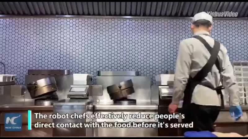 В китайском городе Цзинань работают роботы повара Будущее уже наступило
