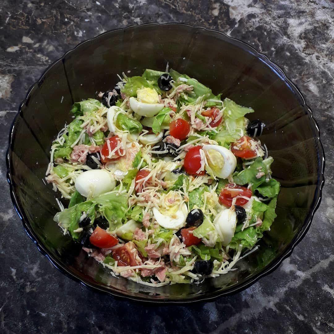 Один из самых вкусных ПП-салатов - салат с тунцом