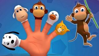 Животные палец семья | Дети учатся | Песня о животных | Finger Family Song | Animal Finger Family