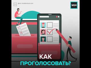 Как принять участие в голосовании  Москва 24
