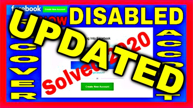 HOW TO RECOVER DISABLED FACEBOOK ACCOUNT 2020 ENGLISH LANGUAGE UPDATED