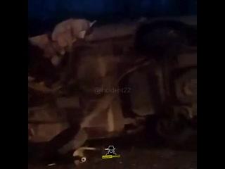 На трассе Бийск - Горно-Алтайск перед Быстрянкой произошло ДТП с опрокидыванием автомобиля (Инцидент Барнаул)