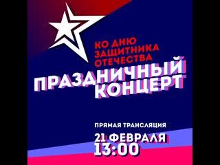 Праздничный концерт к 23 февраля.