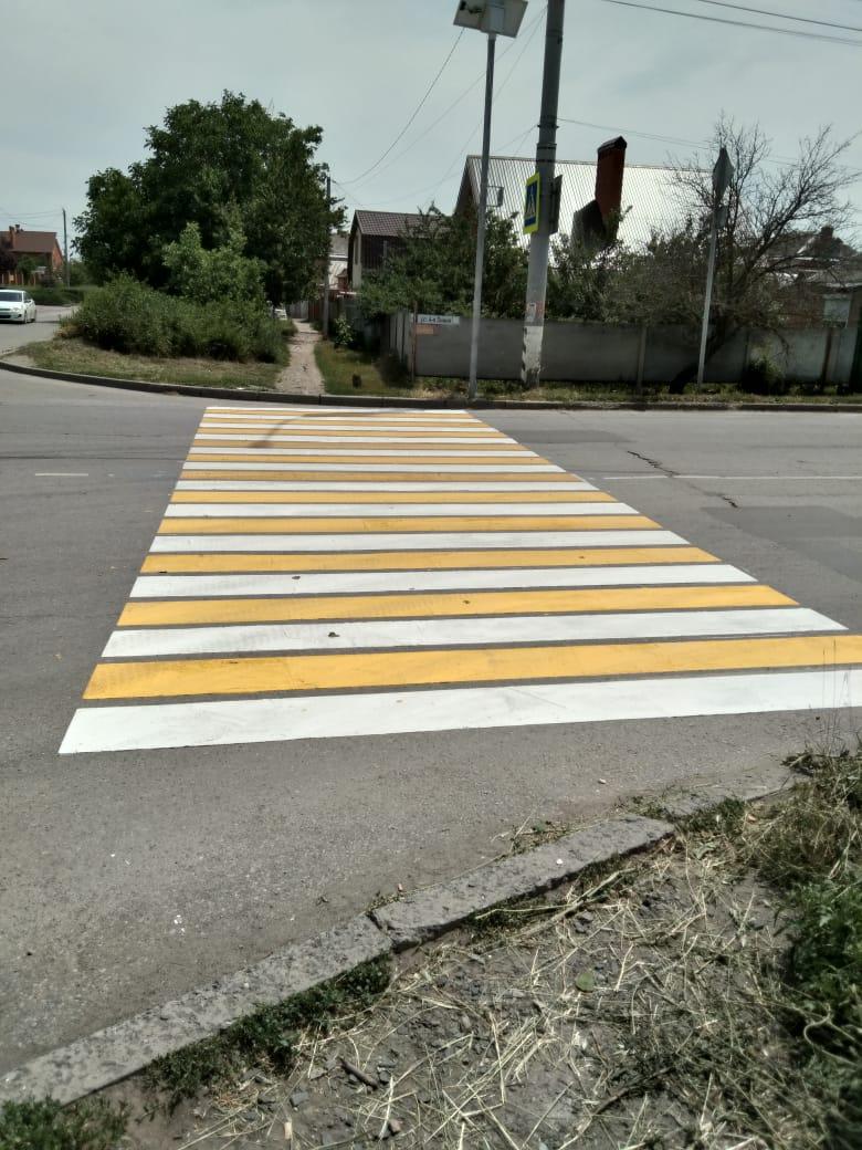 В рамках инициативного бюджетирования завершились работы по обустройству пешеходных переходов