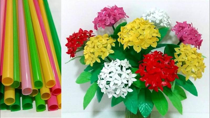 ดอกไม้จากหลอด ดอกเข็มจากหลอด by มายมิ้นท 366