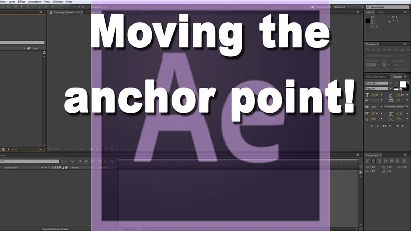 How to move the anchor point and why in After Effects
