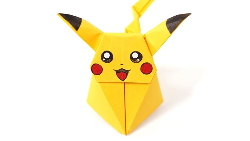 Origami Pikachu Pokemon Ax PaperKawaii Paper Folding Papier Falten 종이접기 Paper Crafts おりがみ