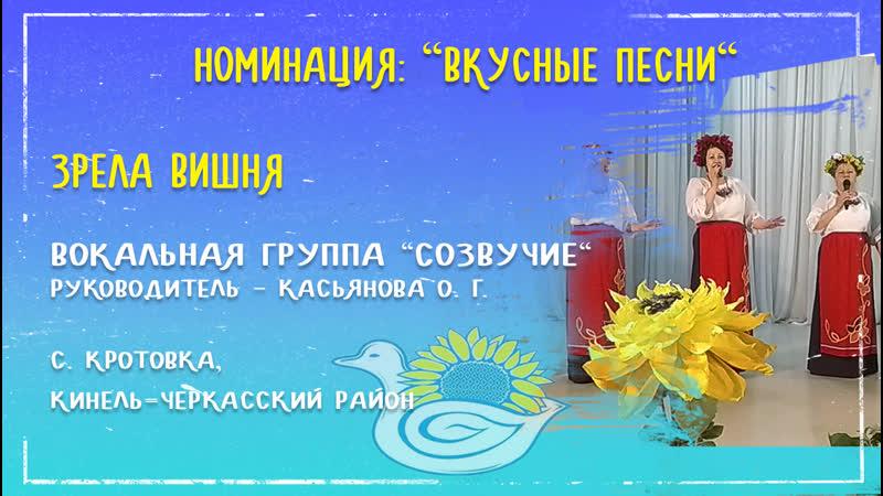 Вкусные песни Зрела вишня Исп Вокальная группа Созвучие с Кротовка Кинель Черкасский район