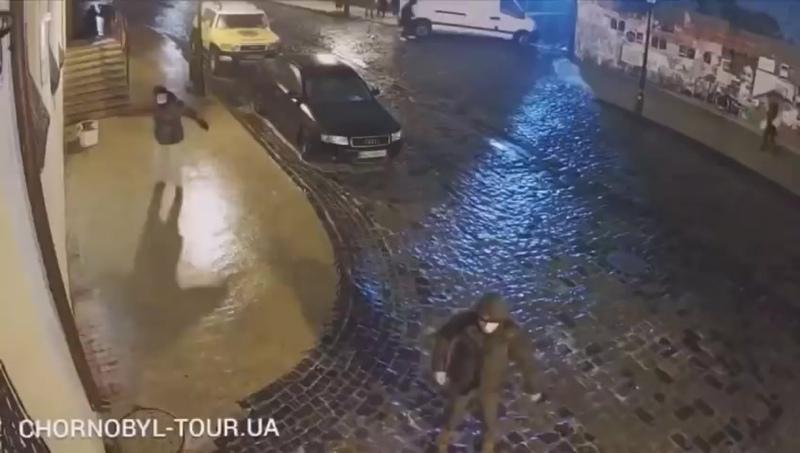 Киев гололёд Андреевский спуск
