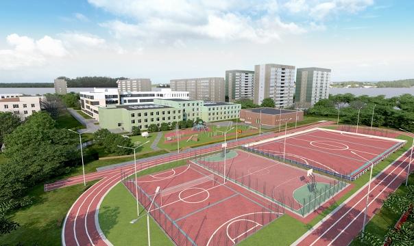 Новый корпус многострадальной школы № 167 в Екатер...