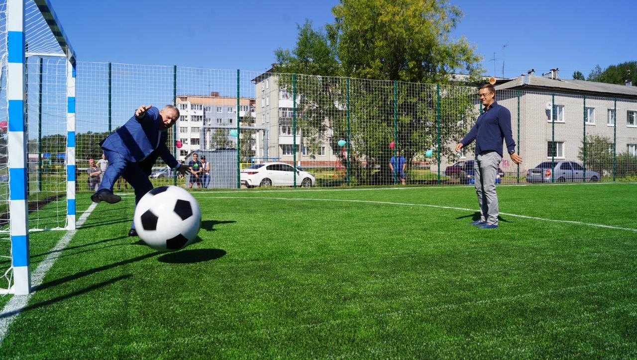 Открытие спортивной площадки в п. Ширшинский