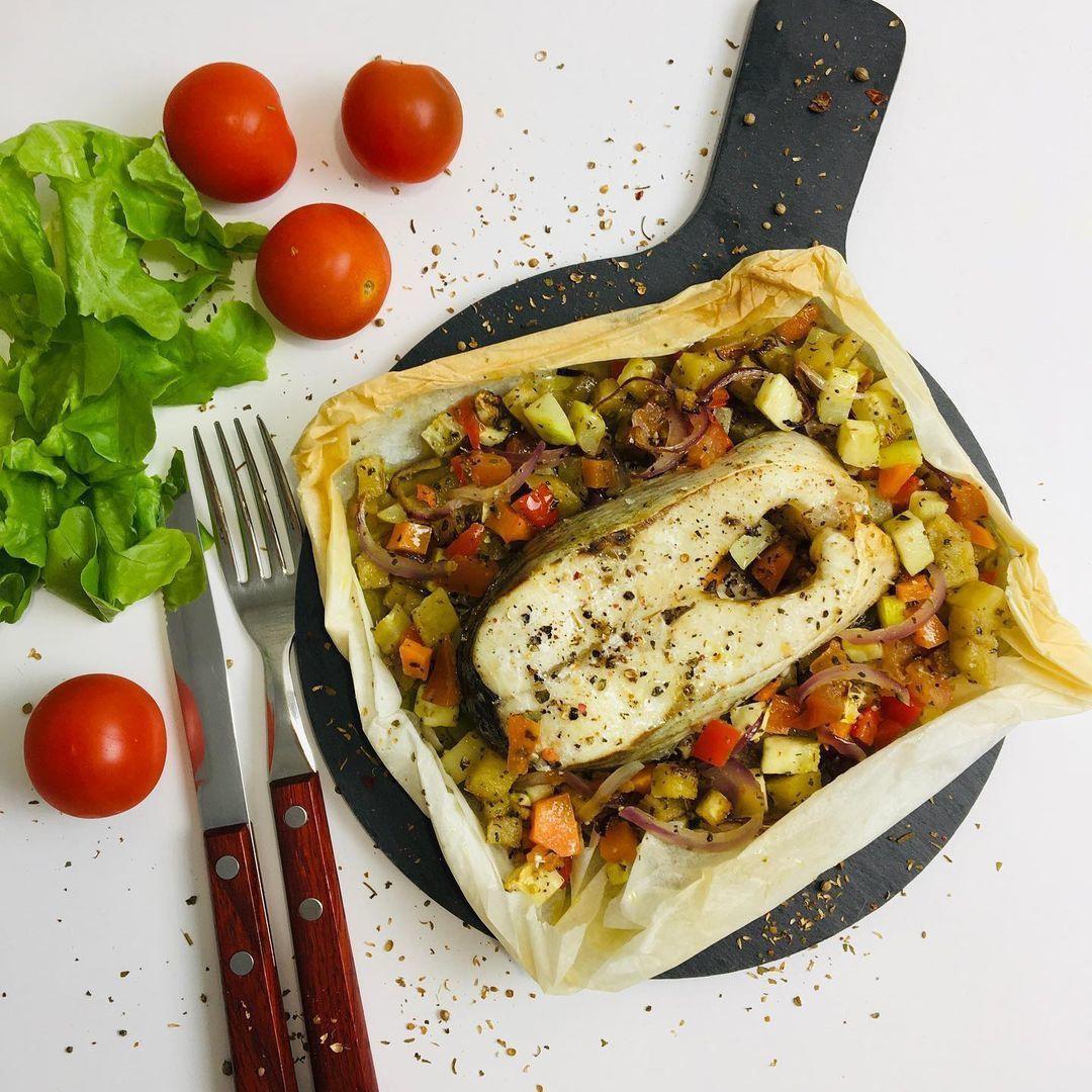Готовим вкусную рыбу с овощами
