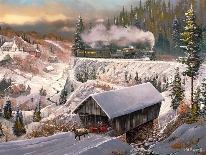 Американский художник Тед Блейлок родился в 1940 году в штате Миссури, в предгорьях Озарк.
