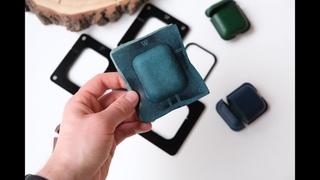 Формовка чехла для AIRPODS   Шаблоны для создания   Leather Apple AirPods case making   Patterns