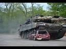 Leopard 2A6 destroyed a car HD