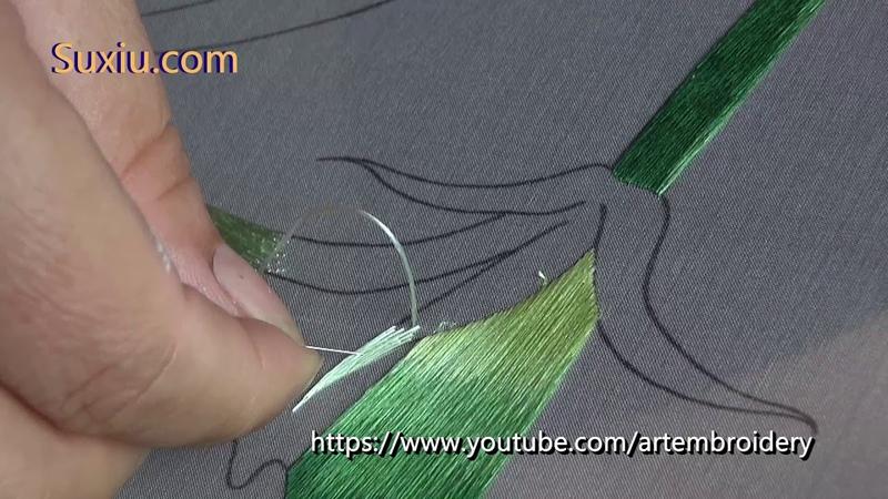 Hand Embroidery Dianthus (3) 苏绣(苏州刺绣) 両面刺繍の教程(Art broderie)Bordados