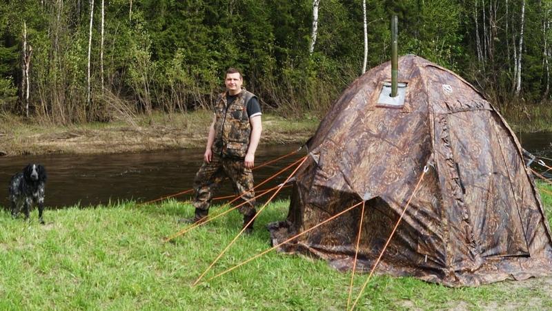 Обзор палатки УП 2 мини и печи Экономка Мини от ПФ Берег Комфортная как лесная изба