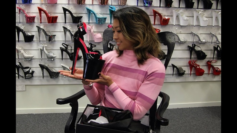 Unboxing Walking In Pleaser XTREME 875TT 8 Inch High Heel Shoes