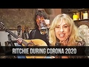Ritchie Blackmore During Corona Quarantine 2020, Drinking Beer Playing Guitar With Candice