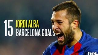 Jordi Alba All 15 Goals for FC Barcelona 2012-2019 1080p