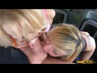 April Paisley, Sarah Slave - The Double Tongue Rimjob (Blowjob, FakeTaxi, Mastur