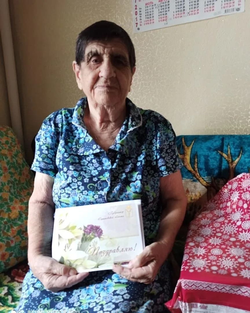 Вчера поздравления с 90-летним юбилеем принимала труженица тыла из села 1-я Берёзовка Петровского района Антонина Леонтьевна ХУДЯКОВА