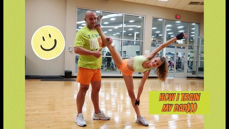 I train my Dad It's very funny D Я тренирую Папу Это ооооочень весело