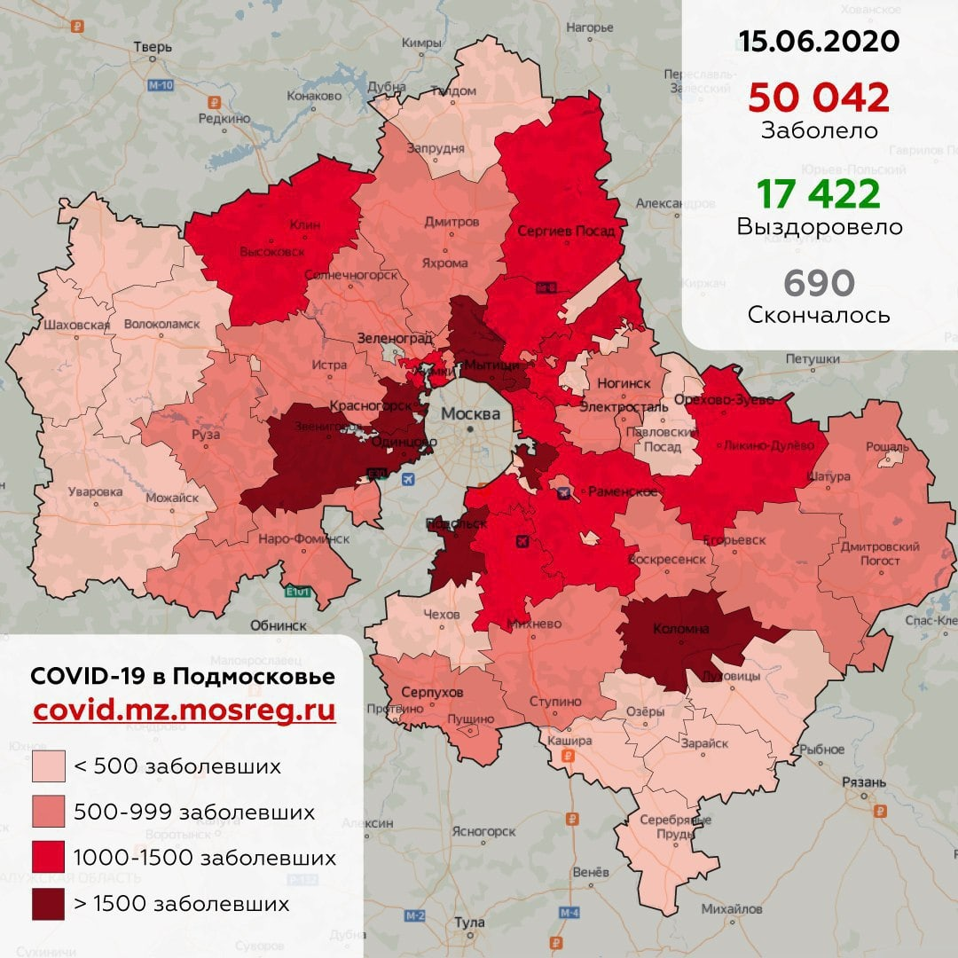 В Дубне выявлено 214 человек, заболевших коронавирусом с момента начала пандемии