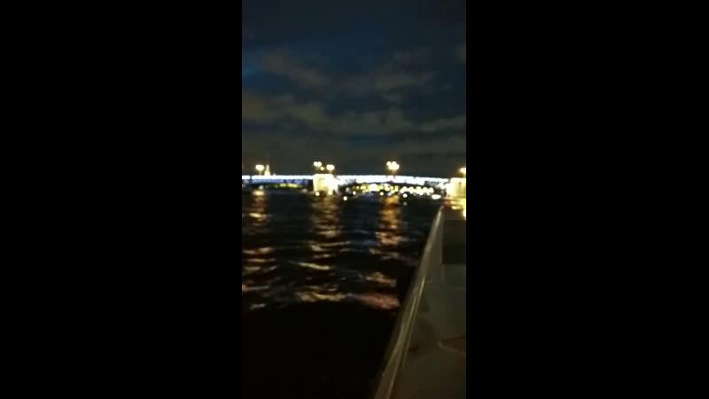 Развод мостов в Питере. Дворцовый.