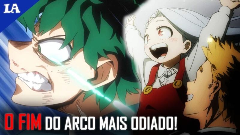 O ARCO ODIADO DE HERO ACADEMIA TEM UM FINAL LINDO