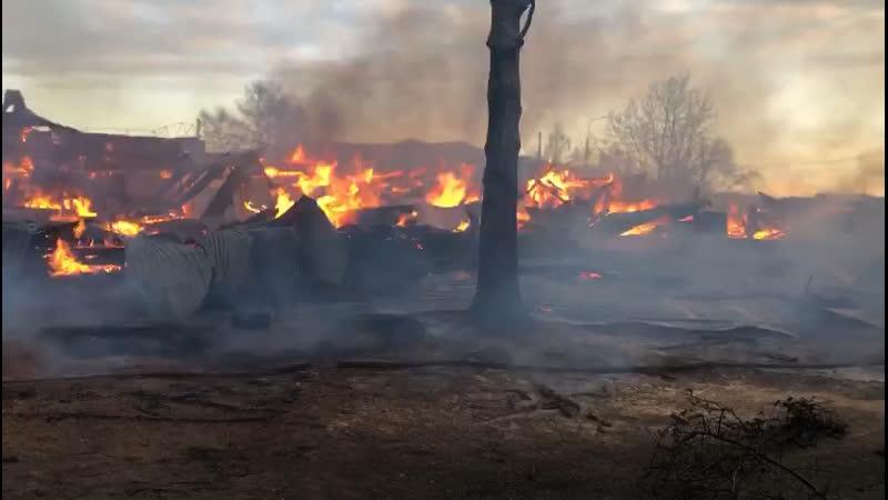 Школа сгорела в Большом Голоустном