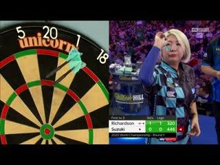 James Richardson vs Mikuru Suzuki (PDC World Darts Championship 2020 / Round 1)