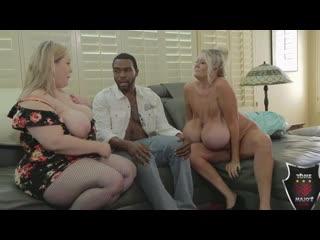 Kayla Kleevage, Bunny De La Cruz [BBW, Big Tits, Black, Blowjob, Cumshot, Facial, Interracial, Mature, MILF, Sex]