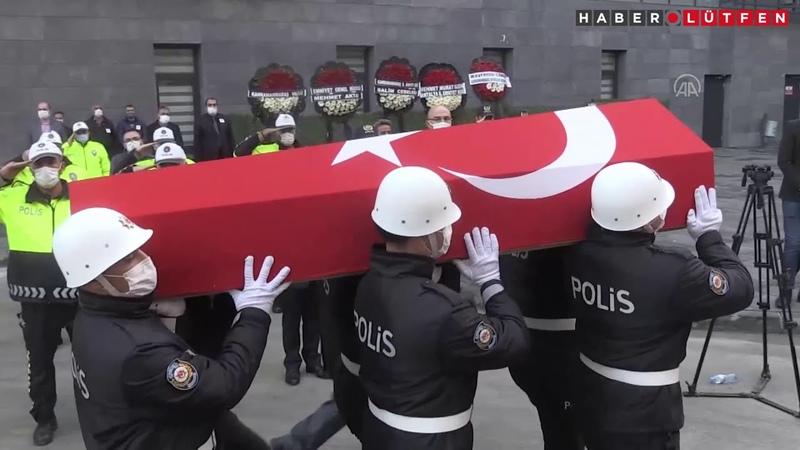 Kahramanmaraşta şehit polis memuru Barış Göl için tören düzenlendi