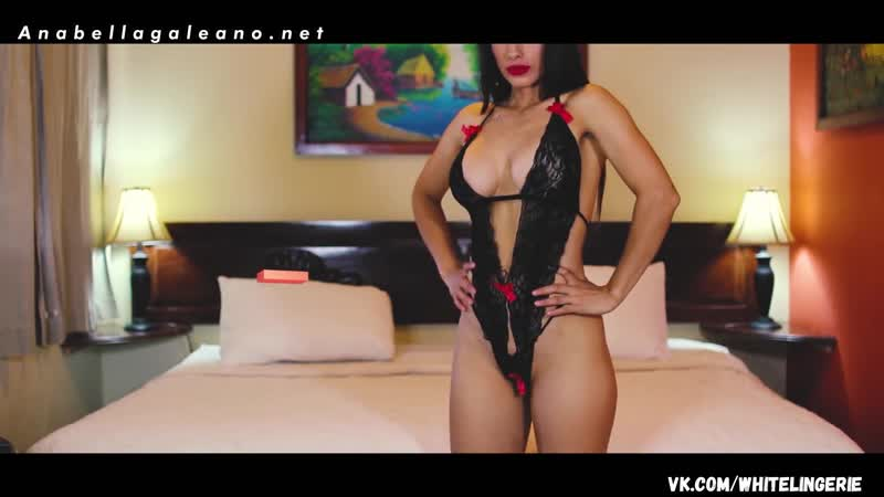 Anabella Galeano Black Slingshot Sling bikini Micro Thong G String latina try hot sexy brunette lingerie микробикини белье секси