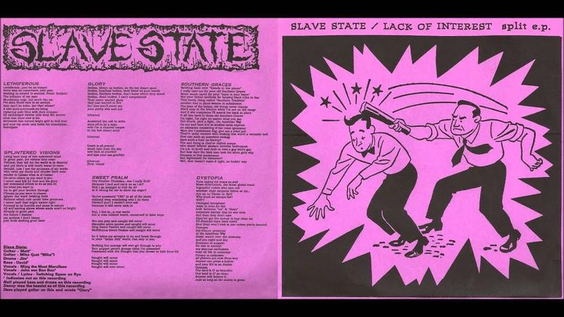 Slavestate Tracks From Lack of Interest Split 7 1993