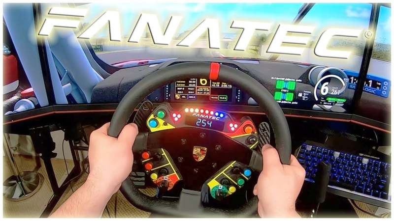 Обзор самого дорогого руля от Fanatec - Podium Steering Wheel Porsche 911 GT3 R