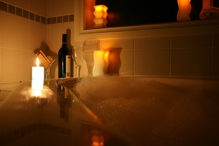 romantic bathtub hair fire - HD1200×800