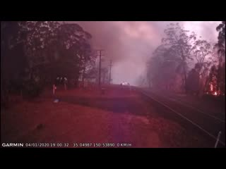 Лесной пожар в Австралии