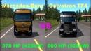  Truck vs Truck  Comparison - 578HP Mercedes-Benz Actros GigaSpace vs 600HP Galvatron TF4 - ETS2
