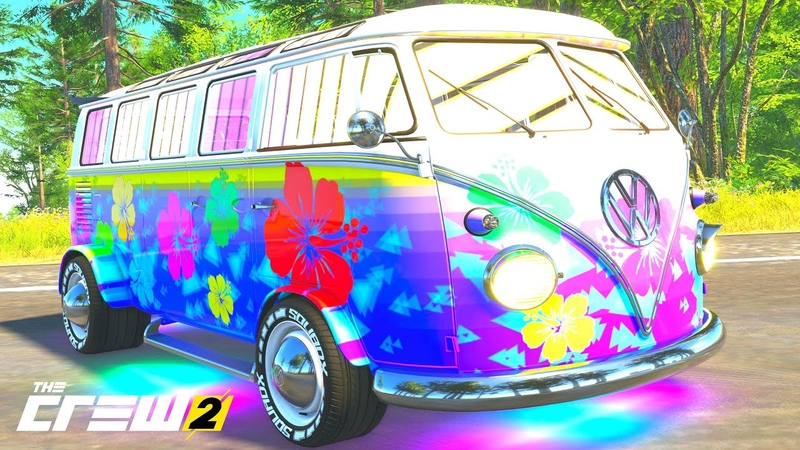 THE CREW 2 GOLD EDiTiON TUNiNG VOLKSWAGEN Kombi 21 Window Bus PART 1395