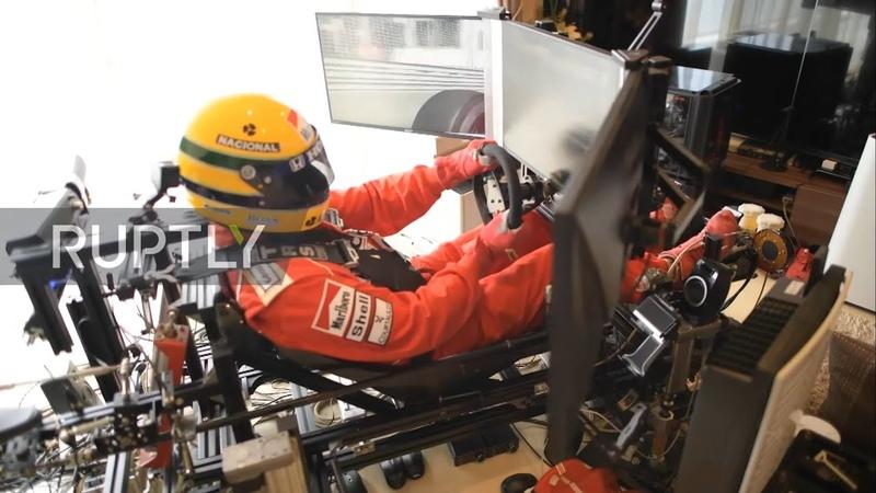ドイツTVインタビュー アイルトン・セナ 1991 モナコ シミュレーター German TV Interview Ayrton Senna 1991 Monaco Simulator