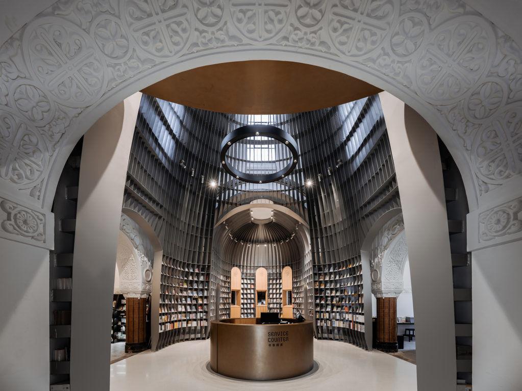 Книжный магазин вбывшей церкви вКитае попроекту Wutopia Lab