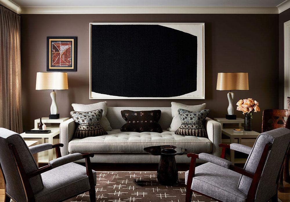 Изысканные апартаменты дизайнера в старинном таунхаусе в Нью-Йорке