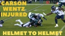 Carson Wentz INJURED On DIRTY HIT From Jadeveon Clowney