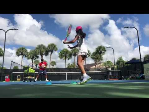 Next generation Tennis High performance with coach Dabul and 10 y o Marcela Roversi