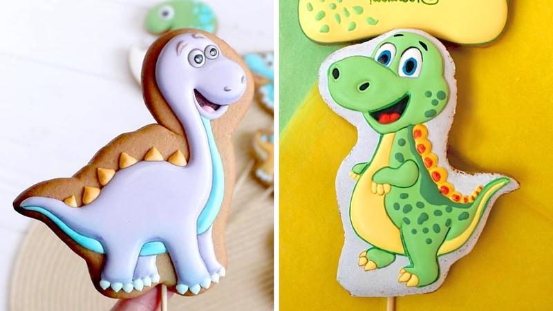Cookies Tasty Cute Dinosaur Cookies Decorating Tutorials So Yummy Cookies Recipes