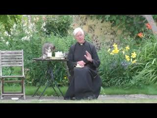 В Кентерберийском соборе кот попил молока во время утренней онлайн-проповеди